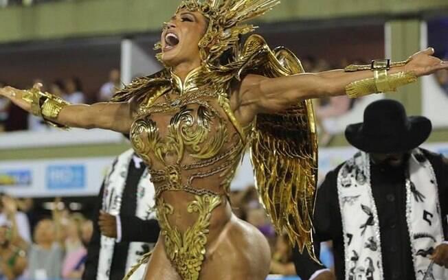 Após carnaval, Gracyanne Barbosa agradeceu União da Ilha