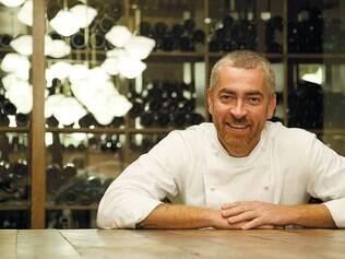 """O chef Alex Atala recebeu duas estrelas no """"Guia Michelin"""" pelo restaurante D.O.M. e uma pelo Dalva e Dito, ambos em São Paulo"""