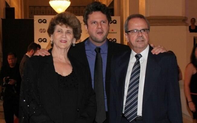Selton Mello com os pais Selva Aretusa e Dalton