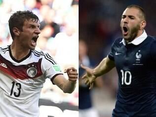 Thomas Müller e Karim Benzema são os grandes nomes de Alemanha e França