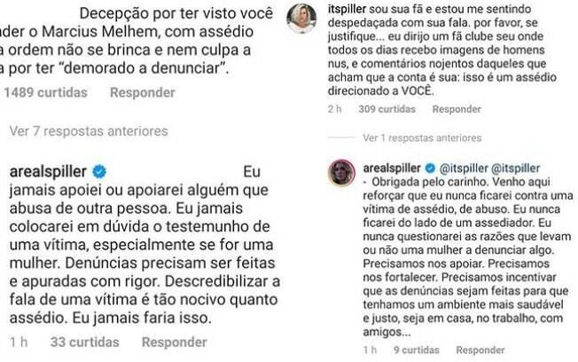 Letícia Spiller responde seguidores no Instagram