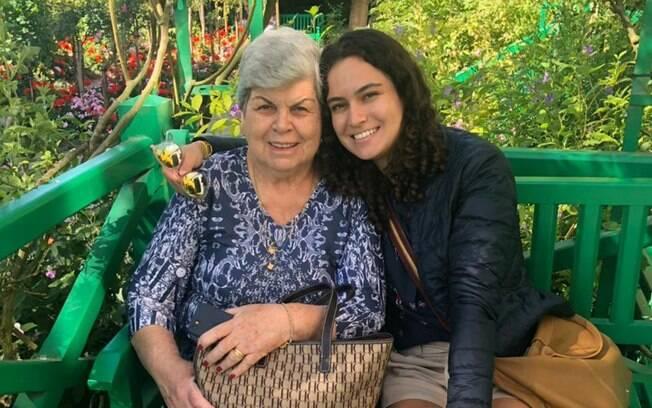 Isabela, 23 anos, lembra a história da avô e comenta como Ida, 77, é sua inspiração de força e coragem