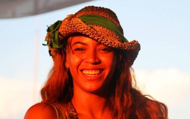 Beyoncé em uma das imagens publicadas em seu novo site
