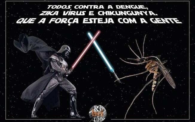 Inversão de papeis em batalha com sabres de luz rendeu gozações à Prefeitura de Ribeirão Preto