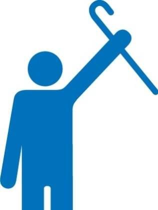 Um dos desenhos enviados ao movimento mostra um idoso orgulhoso por não precisar do apoio de uma bengala