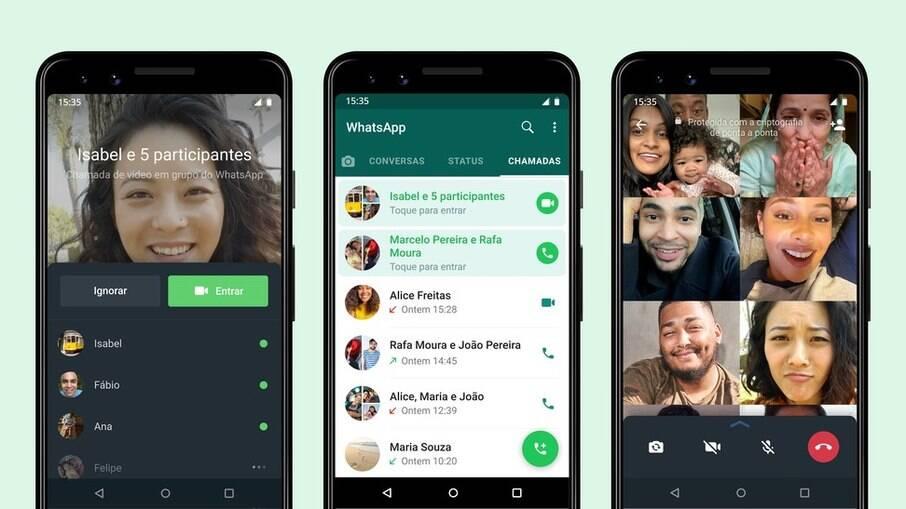 WhatsApp permite que usuários entrem em chamadas em andamento