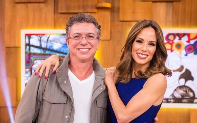 Boninho e a esposa, a apresentadora Ana Furtado