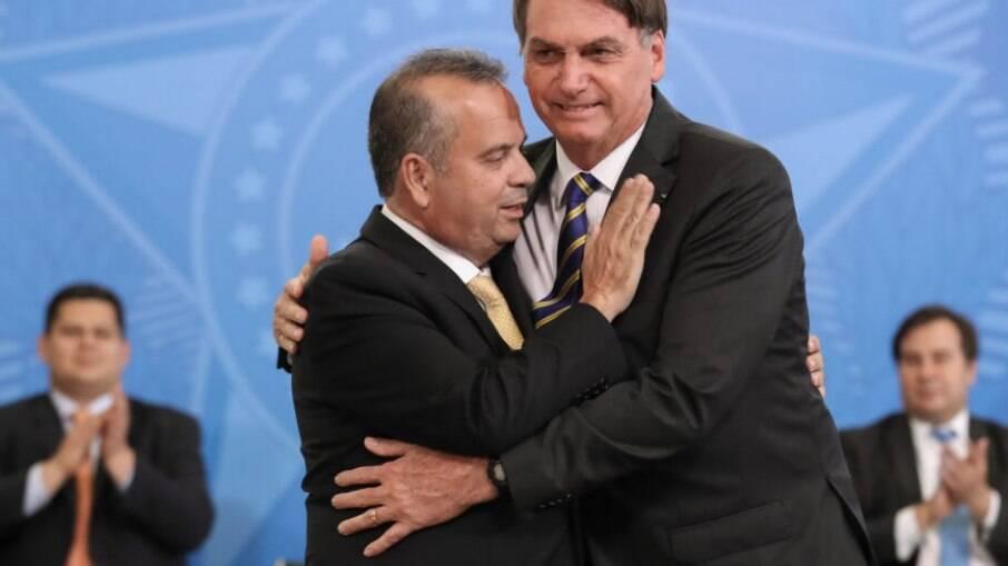 Ministro do Desenvolvimento Regional Rogério Marinho e presidente Jair Bolsonaro