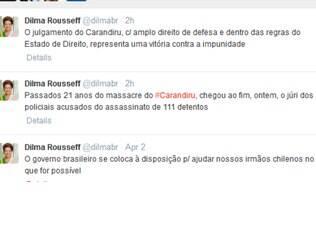 Presidente Dilma Rousseff disse nesta quinta-feira (3), que o resultado do julgamento do Massacre do Carandiru representa uma vitória contra a impunidade