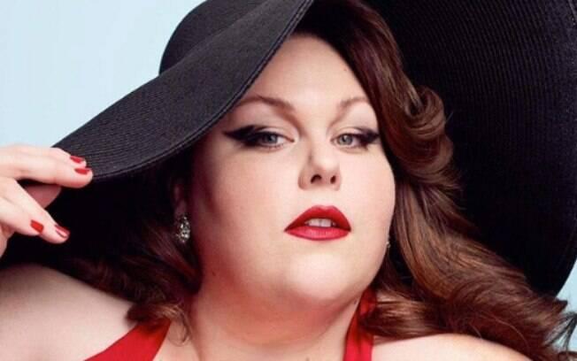 Chrissy Metz é uma atriz fora dos padrões de beleza e conhecida por seu papel na série