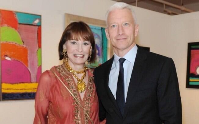 Gloria Vanderbilt e o filho Anderson Cooper