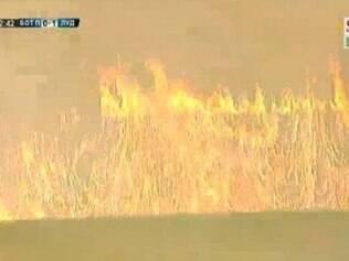 Fogo no estádio da Copa da Bulgária interrompeu final do do campeonato