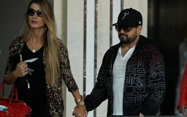 Luciano e sua mulher, Flavia Fonseca
