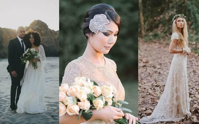 Seguindo o oposto da moda tradicional, as noivas buscam mais por vestidos clássicos, bem diferente dos década de 80