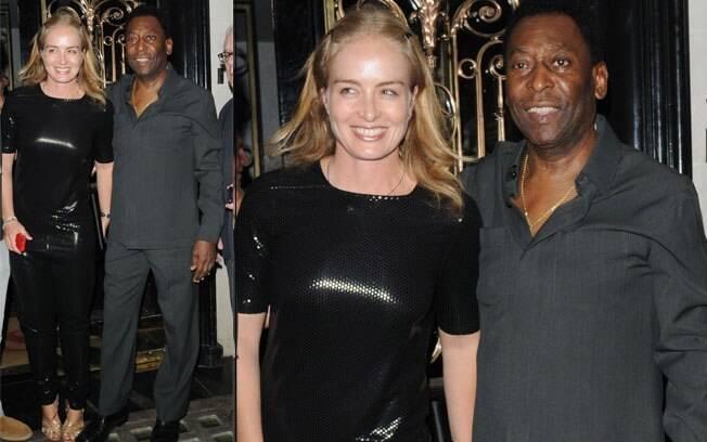 Pelé e Angélica se encontram no restaurante Nobu em Londres