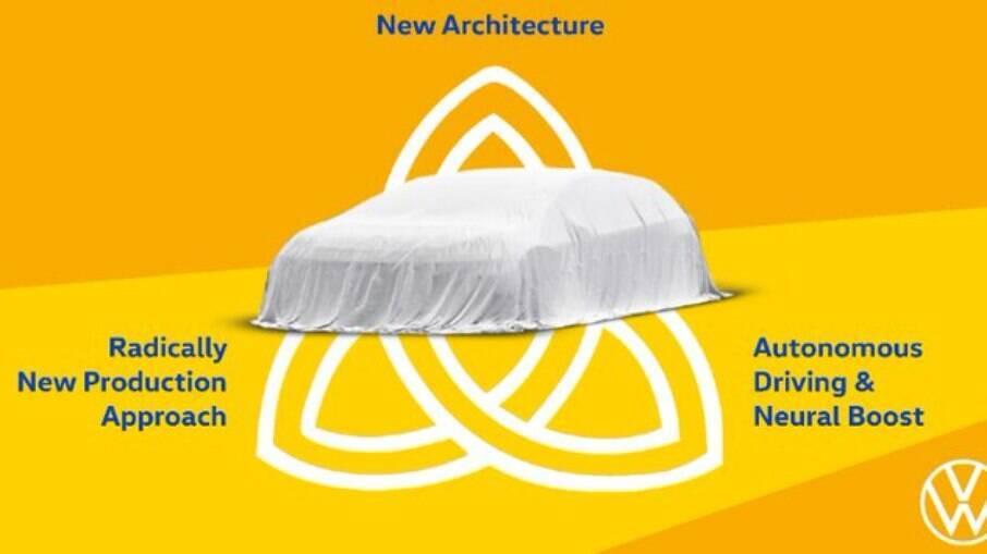 Imagem misteriosa confirma lançamento do novo Volkswagen Trinity, possível versão de produção do conceito Space Vizzion