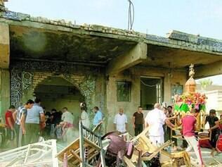 Ataque. Em atentado contra mesquita xiita, no leste de Bagdá, pelo menos 11 pessoas morreram
