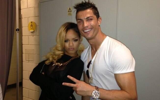 Cristiano Ronaldo tietou Rihanna após um show da cantora em Lisboa, Portugual