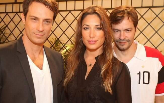 Fernando Pavão, Giselle Itié e Heitor Martinez na coletiva de