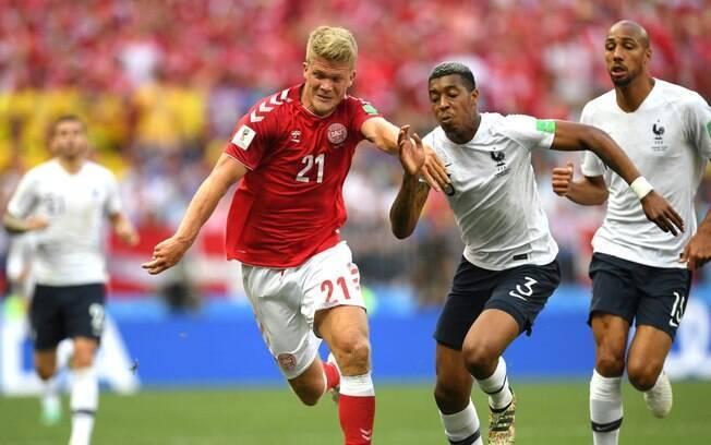 França e Dinamarca protagonizaram o primeiro empate em 0 x 0 na Copa