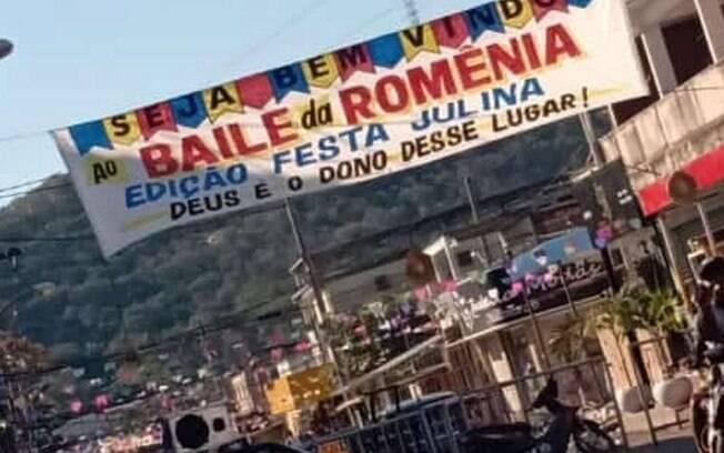 Baila da Romênia: chamada para festa, que aconteceu na noite de sábado (25)