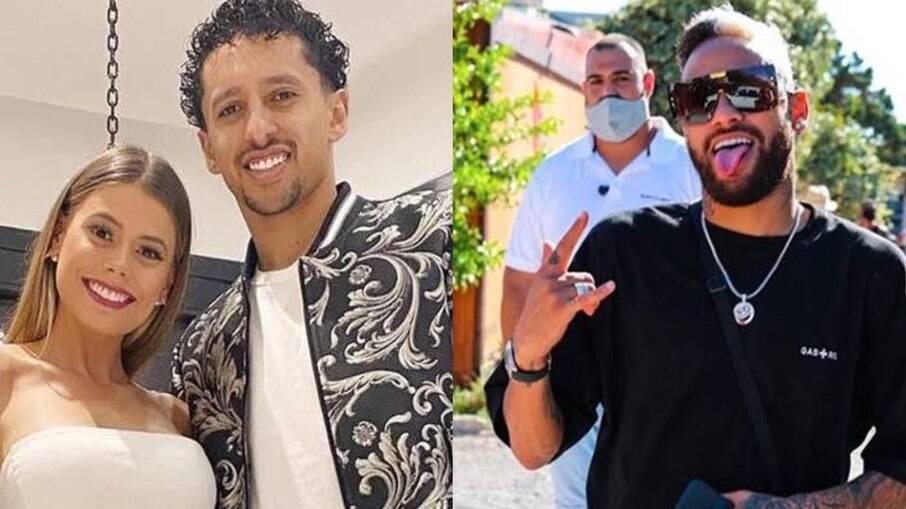 Carol Cabrino e Marquinhos mantém uma relação próxima com Neymar