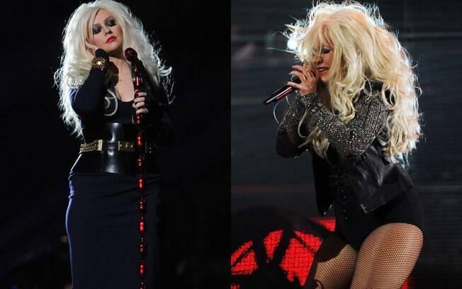 Christina Aguilera um pouco acima do peso na apresentação