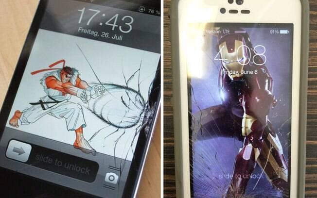 Que tal chamar seu super-herói para resolver o estrago no celular?