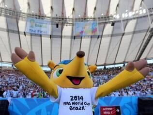 Festa de encerramento do Mundial antes da decisão entre Alemanha e Argentina no estádio Maracanã, no Rio de Janeiro