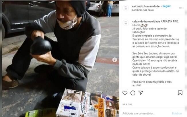 Estudante criam projeto para doar calçados a moradores de rua