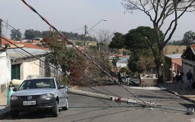 Morador corta árvore e provoca queda de postes no Campo Grande