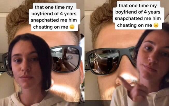 Sydney Kinsch descobre que foi traída por reflexo nos óculos do sol do namorado em foto