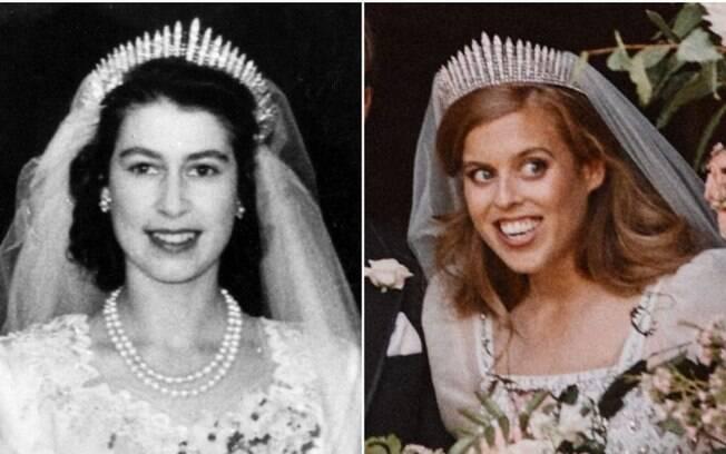 Rainha Elizabeth II e Princesa Beatrice