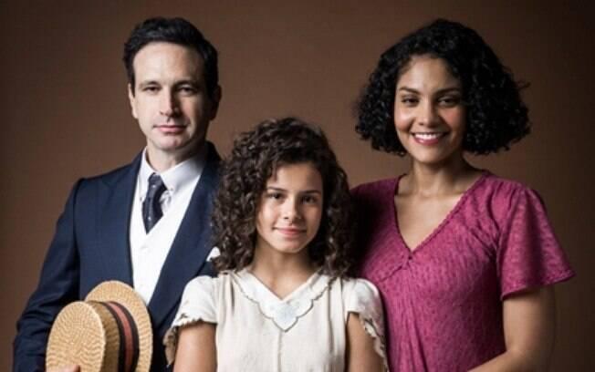 Shirley (Bárbara Reis), Inês (Gabriella Saraivah) e João Aranha (Caco Ciocler)