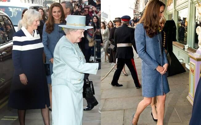 Kate Middleton, Camila Parker-Bowles, Rainha Elizabeth foram às compras na manhã desta quinta-feira (1º)