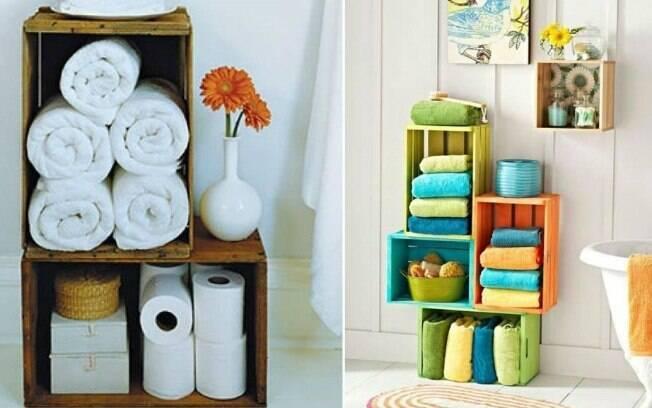 30 ideias para decorar com caixas  Decoração  iG -> Como Fazer Armario De Banheiro Reciclado