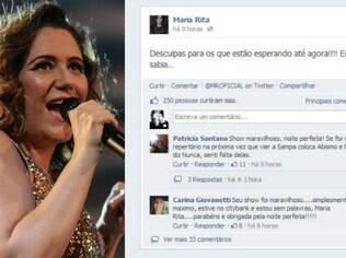 Maria Rita se desculpa com fãs