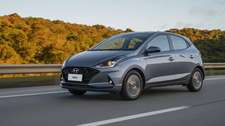 Hyundai HB20: é outro hatch que perdeu mais de 8% do valor na comparação com o modelo zero km, diz a KBB Brasil