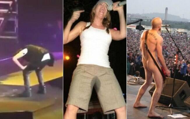 Bieber vomitando, Fergie fazendo xixi nas calças e Nick Oliveri, do QOTSA, pelado