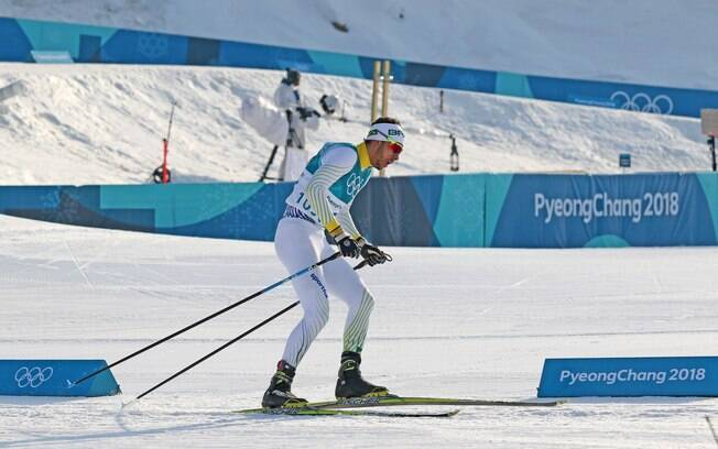 Victor Santos em ação nos Jogos de Inverno