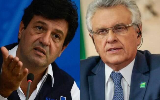 Ministro da Saúde, Luiz Henrique Mandetta, e governador de Goiás, Ronaldo Caiado e