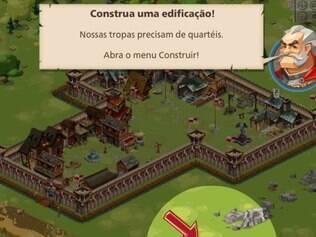 Jogador devem criar castelos e exércitos para conquistar um reino