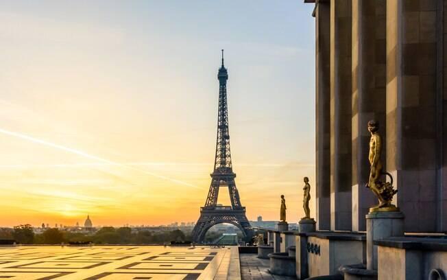 Em Trocadéro Gardens, a vista promete uma visão panorâmica da cidade do amor, com Torre Eiffel e até pôr do sol
