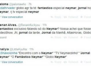 Muitos internautas usaram as redes sociais para desabarem sua irritação com a overdose de 'Neymar' na emissora global