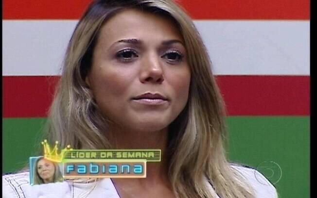 Fabiana se torna Líder pela terceira vez