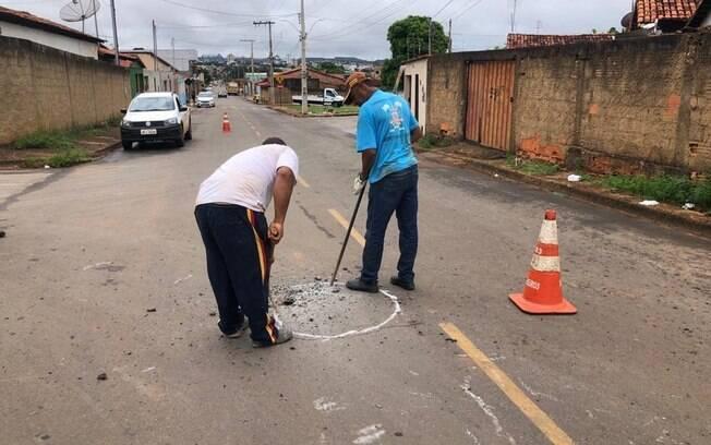 Foram precisos a Companhia de Saneamento de Minas Gerais (Copasa) e a Secretaria de Obras para o resgate dos animais