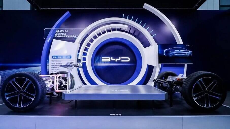 A plataforma 'e-Platform 3.0' para veículos 100% elétricos tem como objetivo promover o desempenho dos veículos elétricos