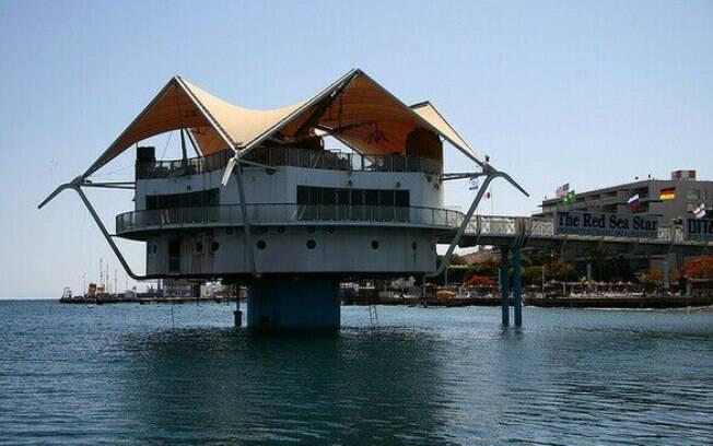 Estrutura do Red Sea Star Restaurant é em formato de estrela. Foto: Divulgação