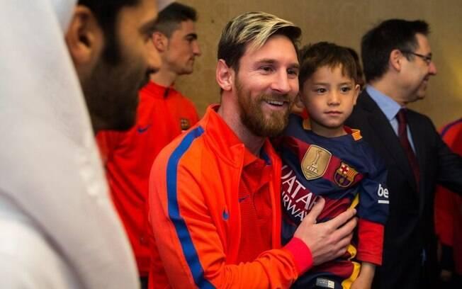 Murtaza roubou a cena em amistoso disputado em Doha, no Catar, e se encontrou com Messi