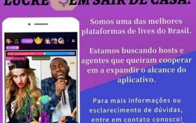 O aplicativo de streaming de vídeo Uplive preenche a lacuna entre o salário e o entretenimento para os jovens brasileiros que ficam em casa.